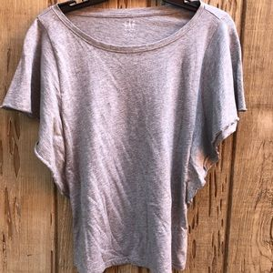 Accent Sleeve Gray Top
